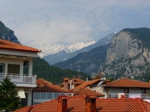 Mt Olympos from our terrace